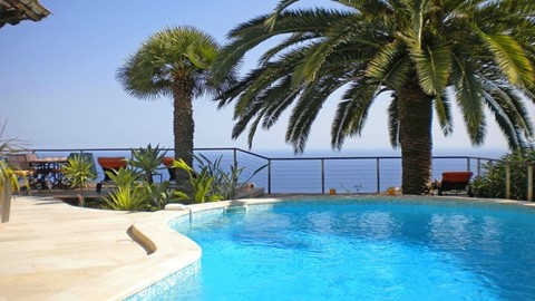 Villa Cap Martin, Luxury Vacation Villa With Stunning Sea Views, Pool, Hot Tub, Air-Con, Summer Kitchen